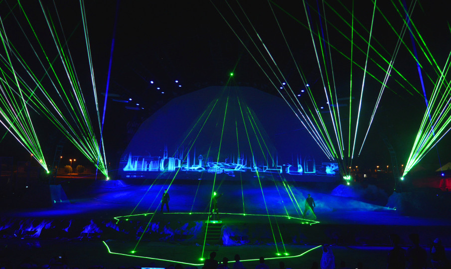 Ultimate Laserman_show laser sur mesure