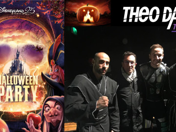 Laser act at Disneyland Paris for Halloween Party – Theo Dari team